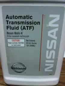 Nissan Automatic Transmission Fluid Nissan Automatic Transmission Fluid Nissan Matic K 999mp