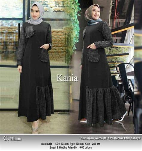Harga Baju Gamis Merk Zainab gamis katun terbaru 2018 kania hitam model baju gamis