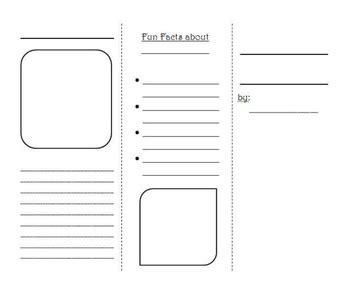 Blank Brochure Template By Ashley Montejo Teachers Pay Teachers Blank Brochure Templates Free Word