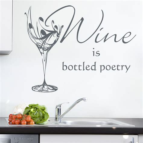 sticker for glass wall wine glass kitchen sticker personalised wall sticker