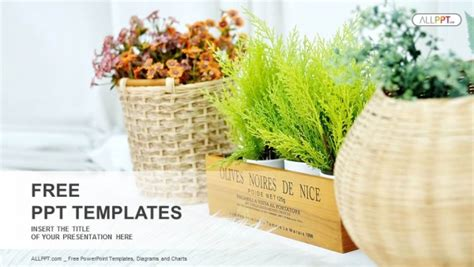 Small Plant Pot Displayed Powerpoint Templates Plant Powerpoint Templates Free