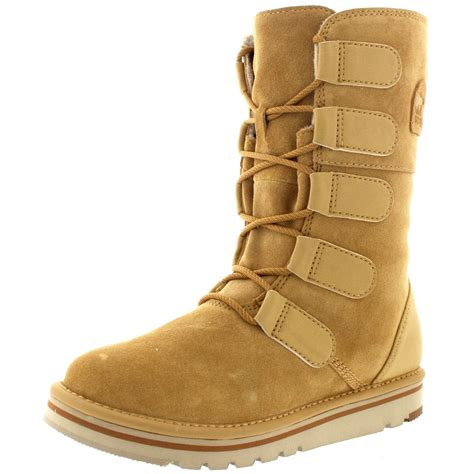 snow boots for uk womens sorel the newbie lace suede fur lined winter