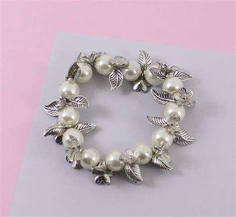 Flower Blossom Bracelet flower blossom pearl bracelet by neko