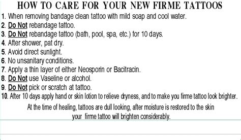 tattoo aftercare instructions exercise tattoo aftercare instructions images
