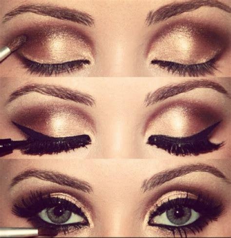 Eyeshadow Golden how to do gold eye makeup