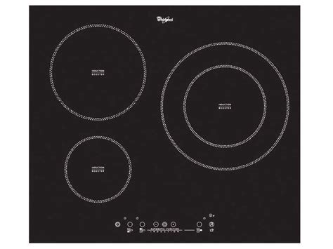 plaque induction 3 feux 2732 table de cuisson induction 3 foyers whirlpool acm 787