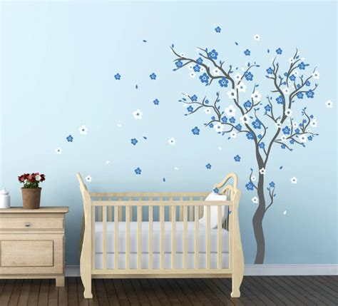 Nursery Wall Decals For Boys Baby Boy Nursery Ideas Cherry Blossom Wall Decal Wall Sticker