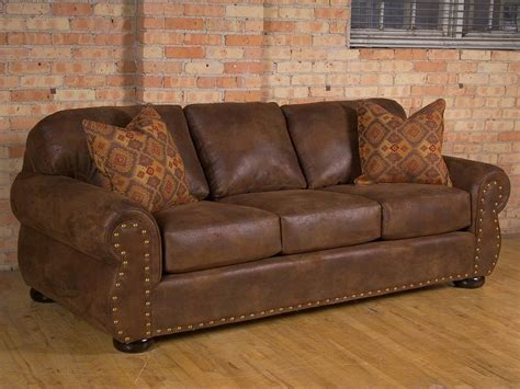Rustic Leather Sofas Plushemisphere Rustic Leather Sofas For Vintage And Classical Room Decor