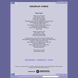 coldplay green eyes green eyes lyrics coldplay song meanings