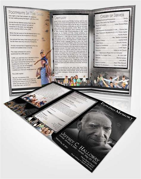 brochure templates nz obituary template trifold brochure new zealand black and