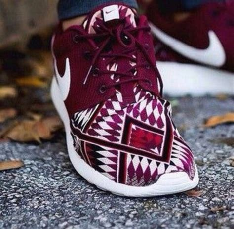 tribal pattern nike free runs shoes burgundy aztec mens shoes nike tribal pattern