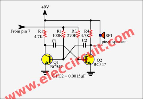 non contact voltage detector circuit diagram non contact ac voltage detector circuit using cd4060