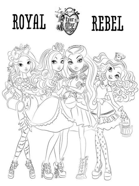 happily ever after high coloring pages ever after high coloring pages download and print ever