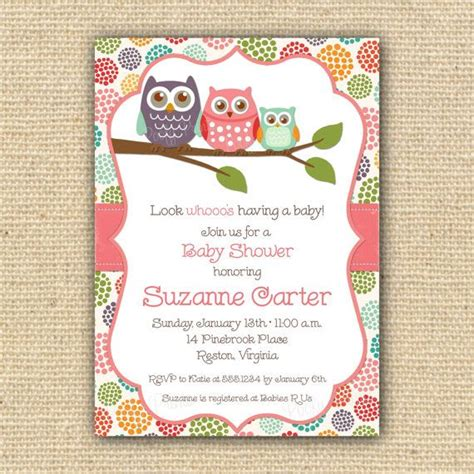 printable owl invitation template owl baby shower invitations diy printable baby girl