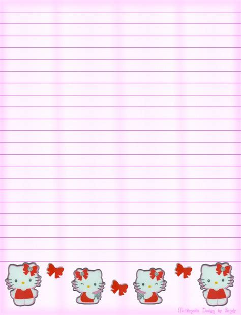 printable hello kitty notebook paper 184 best images about hello kitty on pinterest free