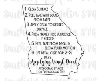 printable iron on instructions vinyl apparel care card instructions print and cut file