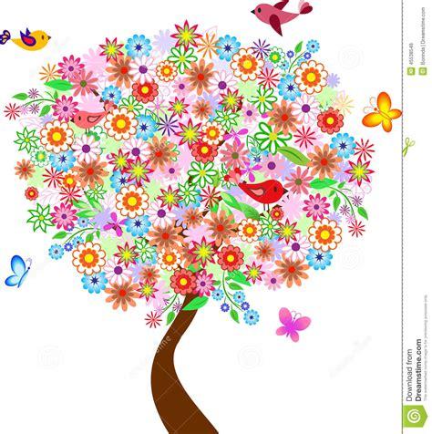 Kunst Mit Nägeln by Sommer Blumen Baum Illustration Mit V 246 Geln Und