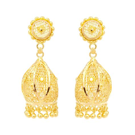 earings desing earrings sunflower design gold earring grt jewellers