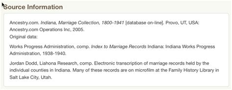 Indiana Marriage Records Ancestry Read The Description And Improve Your Research Ancestry