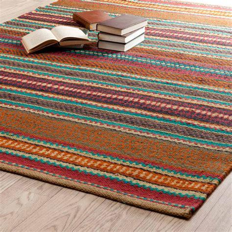 Teppich Bunt Gestreift teppich bunt gestreift zagora 200x140 maisons du monde
