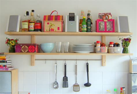 diy wall shelves for storage cabinets with white wall