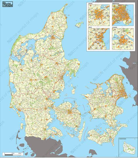 digital zip code map denmark   world  mapscom
