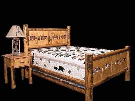 country bed frames country bed frame with cutouts rustic western bedroom