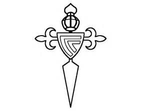 escudo alimenticio para pintar dibujo de escudo del real club celta de vigo para colorear