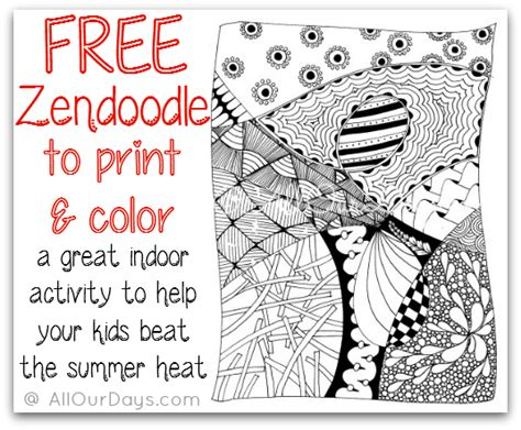 zendoodle coloring pages easy simple zentangle coloring pages
