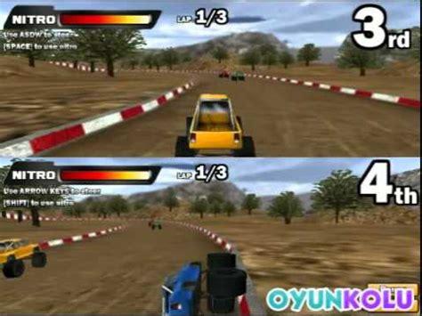 İki kişilik 4x4 araba yarışı oyunu nasıl oynanır youtube