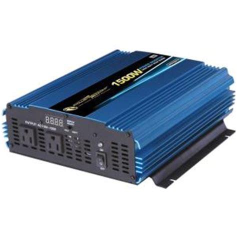 power bright 12 volt dc to ac 1500 watt power inverter