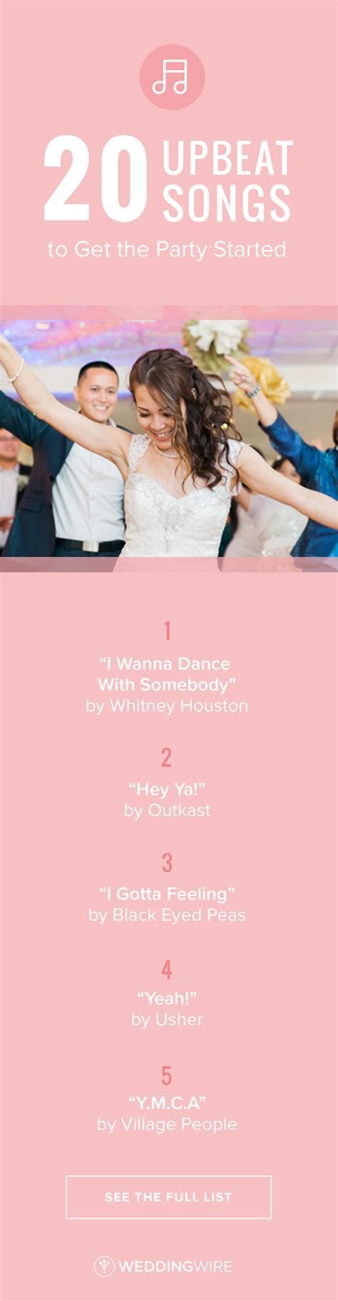 20 Upbeat Songs to Get the Party Started   Wedding