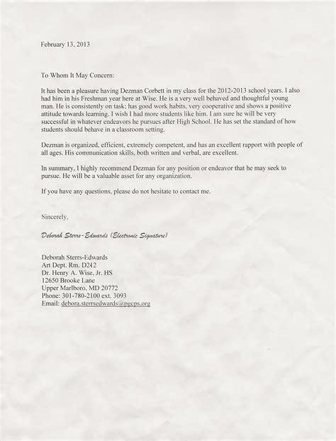 Recommendation Letter Citizenship Sle Recommendations Citizenship Dezman Corbett S Career Portfolio