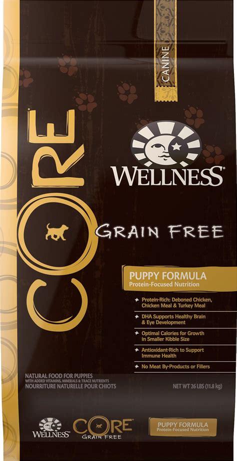 wellness grain free puppy food wellness grain free puppy chicken turkey recipe food 26 lb bag chewy