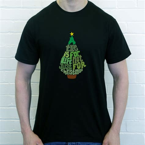 design t shirt for holiday a tree is for life not just for christmas t shirt from