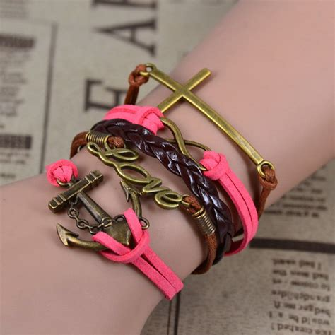 Gelang Dominica Leather Bracelets gelang vintage butterfly leather bracelet bangle q9 multi color jakartanotebook