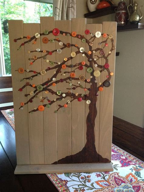 acrylic paint on wood diy fall decorating scrap wood acrylic paint buttons and