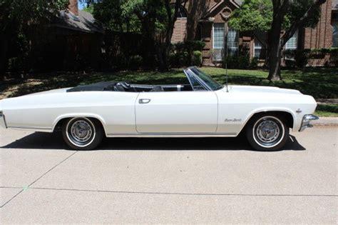chevrolet impala convertible 1965 white for sale