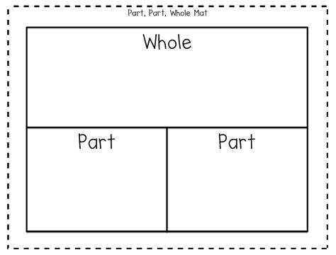 Part Part Whole Mat addition subtraction missing number related facts