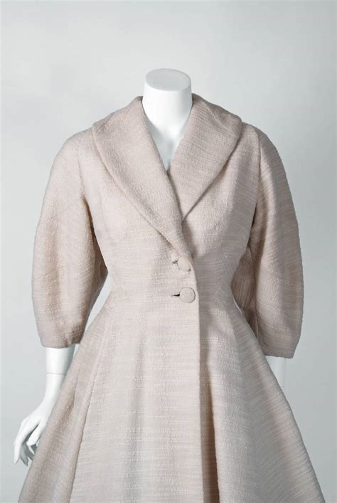 white swing coat 1940 s lilli ann elegant ivory white wool rockabilly