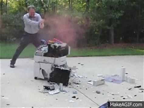 Office Space Destroying Printer Printer On Make A Gif