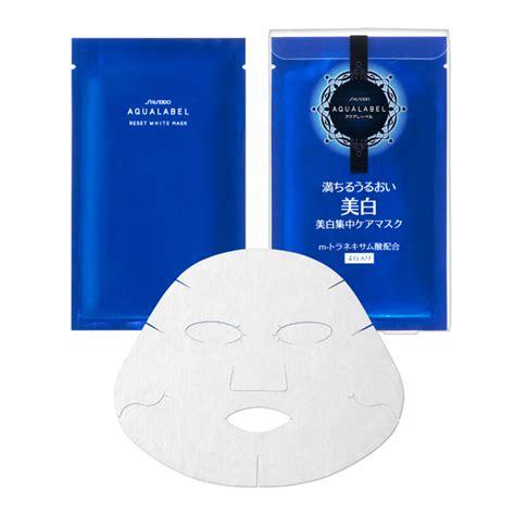 Shiseido White Mask aqualabel by shiseido reset white mask พร อมส งฟร