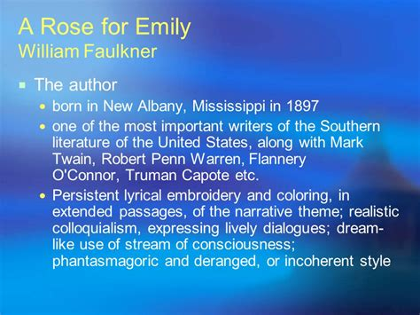 themes a rose for emily a rose for emily william faulkner ppt download