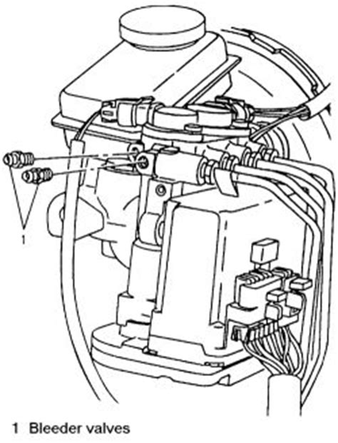 repair anti lock braking 1995 chevrolet astro free book repair manuals repair guides anti lock brake system bleeding the abs system autozone com