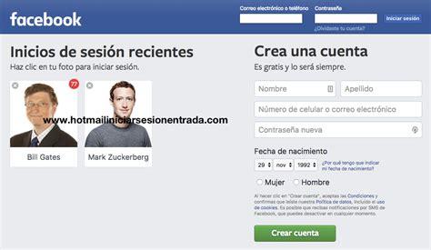 facebook en espanol registrarse facebook iniciar sesion en espa 241 ol entrar a facebook