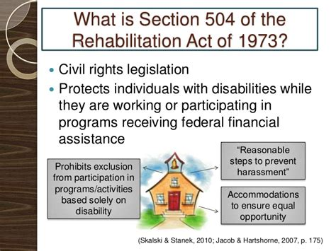 section 504 rehabilitation act section 504 presentation final