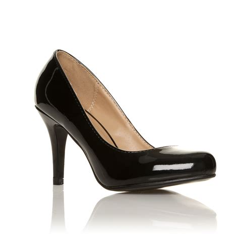 evening high heels court shoes office smart black evening