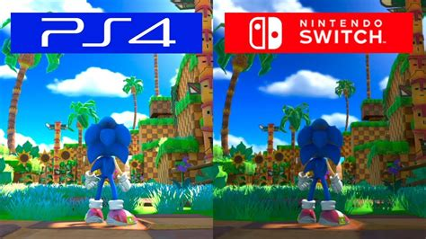 Ps4 Sonic Forces sonic forces switch vs ps4 graphics comparison comparativa