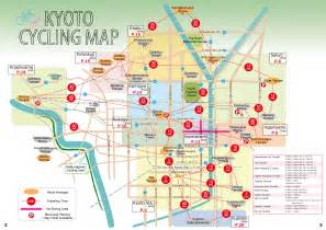 Kyoto Subway Map by Cycling Map Kyoto Eco Trip