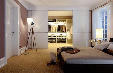 schlafzimmer 3x3 meter einrichten begehbarer kleiderschrank edler raumtrenner schiebet 252 ren